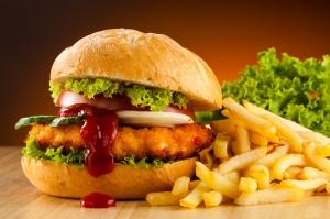 Hamburger 7 Lezzetler Kanvas Tablo