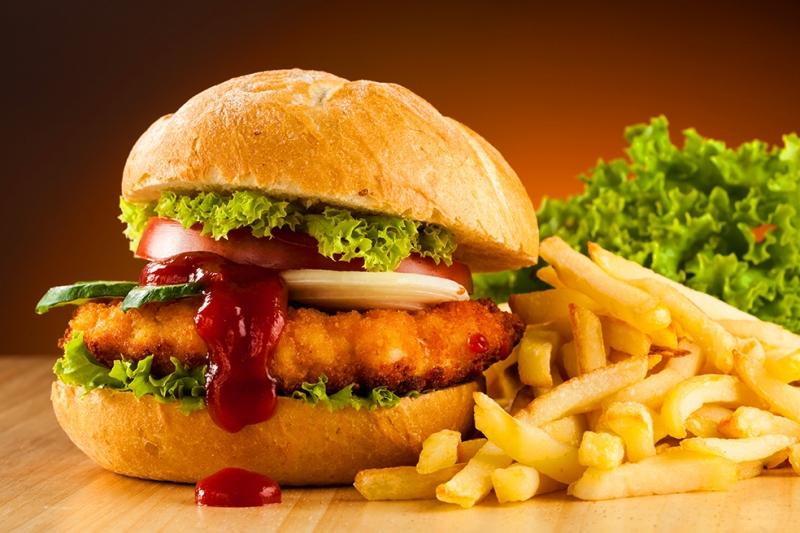Hamburger Menü 2 Fast Food Lezzetler Kanvas Tablo
