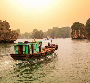 Hanoi Vietnam Doğa Manzaraları Kanvas Tablo