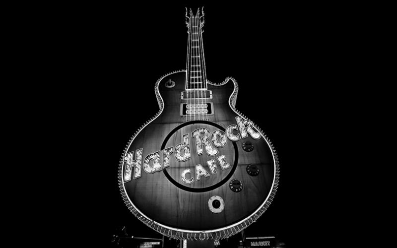 Hard Rock Cafe Fotoğraf Kanvas Tablo