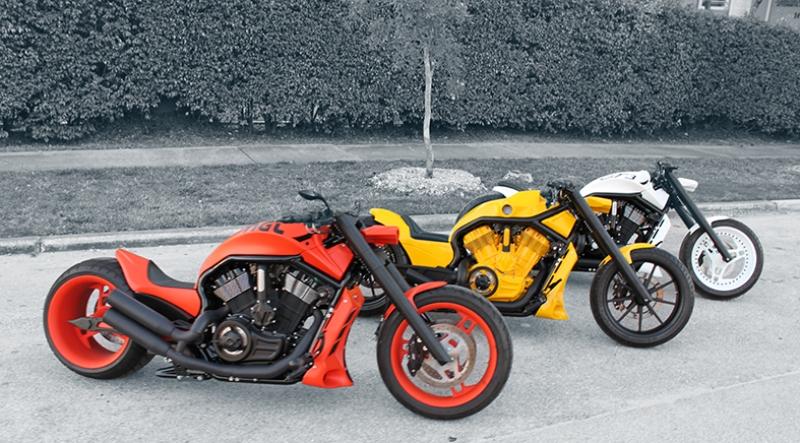 Harley Davidson Motorsiklet Araçlar Kanvas Tablo
