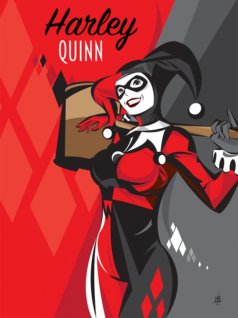 Harley Quinn Süper Kahramanlar Kanvas Tablo