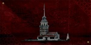 Hat ve Kız Kulesi Osmanlı ve İslami Exclusive Kanvas Tablo