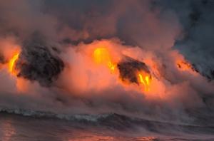 Havaii Yanardağ Lavlar HD Doğa Manzaraları Kanvas Tablo