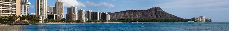 Hawaii Panaromik Kanvas Tablo