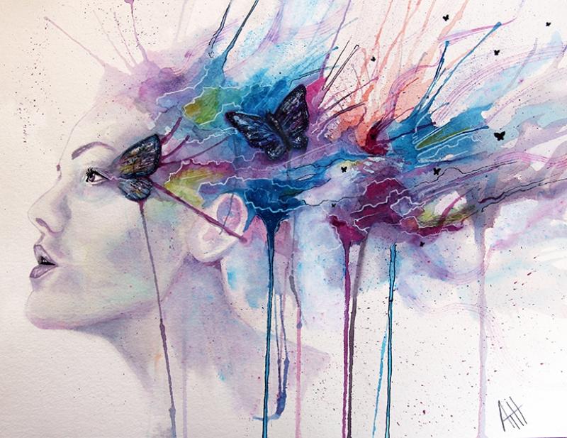 Hayal Dünyası Yağlı Boya Sanat Kanvas Tablo