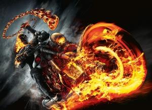 Hayalet Sürücü Süper Kahramanlar Kanvas Tablo