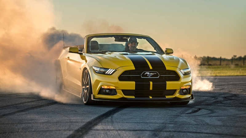 Hennessey Mustang GT Convertible Spor Otomobil Araçlar Kanvas Tablo