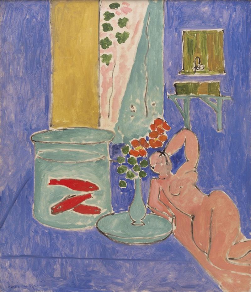 Henri Matisse Altın Balık Heykel Yağlı Boya Klasik Sanat Kanvas Tablo