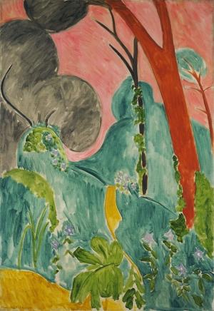 Henri Matisse Bahce Yağlı Boya Klasik Sanat Canvas Tablo