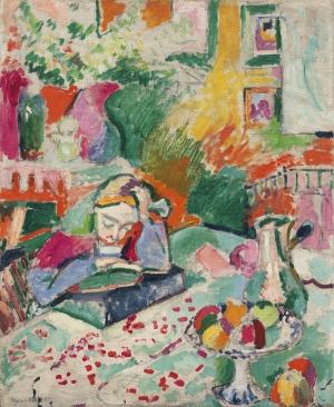Henri Matisse Bir Genç Kızla İç Mekan  Yağlı Boya Klasik Sanat Kanvas Tablo
