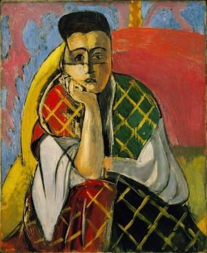 Henri Matisse Düşünce Bayan Yağlı Boya Klasik Sanat Kanvas Tablo