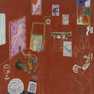 Henri Matisse Kırmızı Stüdyo Yağlı Boya Klasik Sanat Canvas Tablo