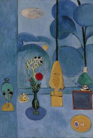 Henri Matisse Mavi Pencere Yağlı Boya Klasik Sanat Canvas Tablo