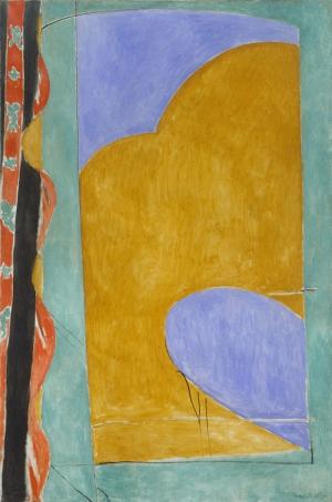 Henri Matisse SarI Perde Yağlı Boya Klasik Sanat Canvas Tablo