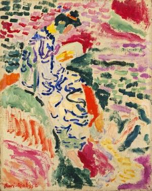 Henri Matisse Suyun KenarIndaki Japon Kadın Yağlı Boya Klasik Sanat Canvas Tablo