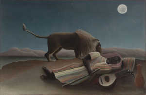 Henri Rousseau Uyuyan Çingene Yağlı Boya Klasik Sanat Canvas Tablo