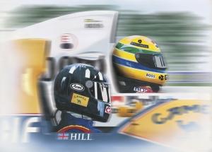 HILL vs SENNA Formula Otomobil Araçlar Kanvas Tablo