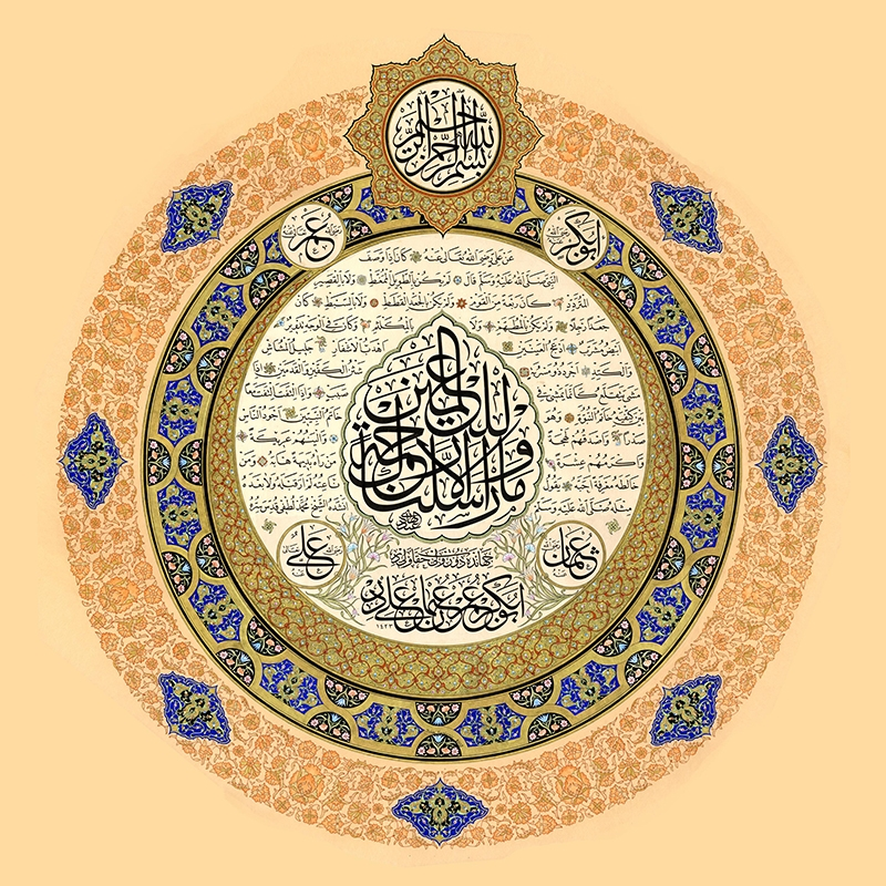 Hilyeyi Şerif-1-İslami Dini İnanç Kanvas Tablo