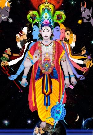 Hindu 3 Dini & İnanç Kanvas Tablo