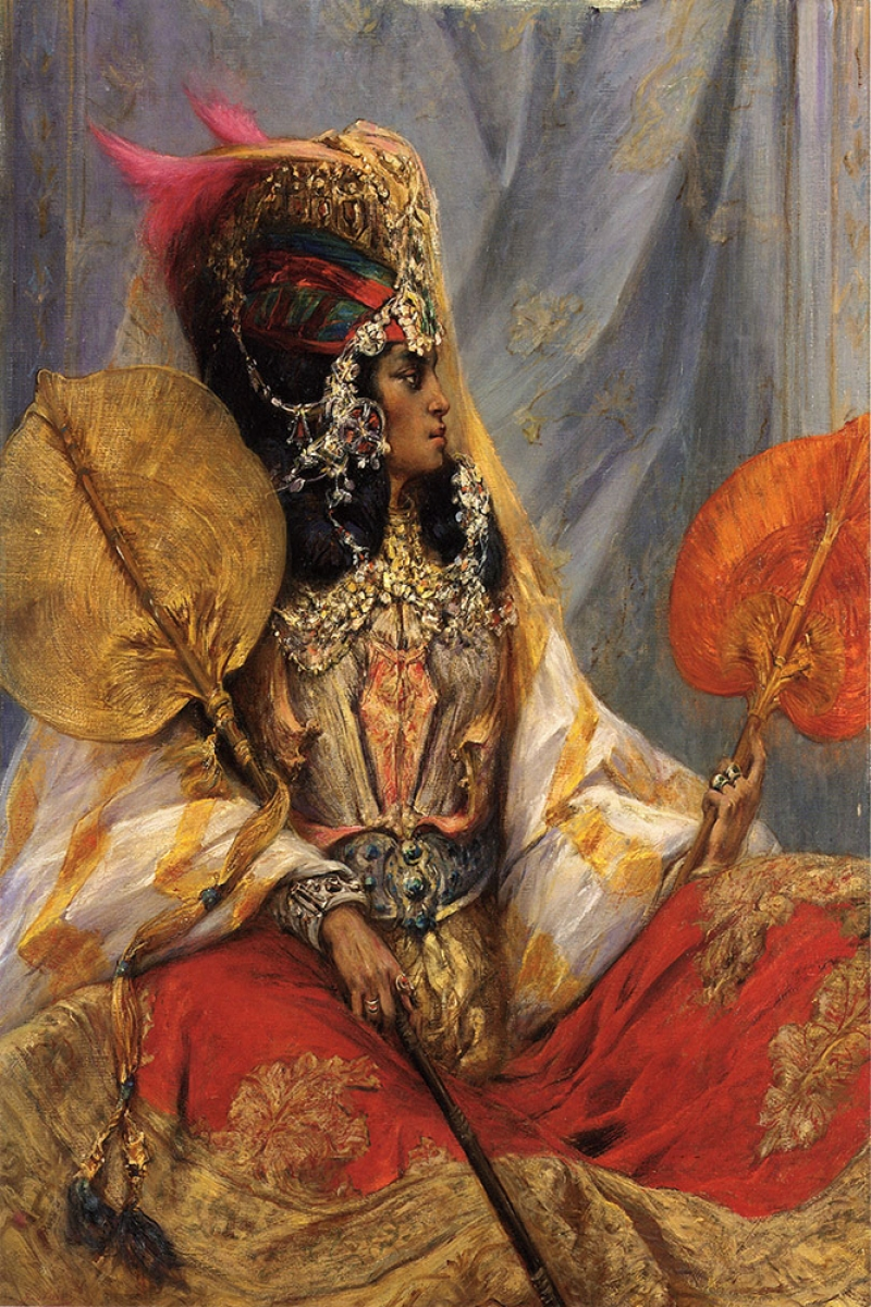 Hintli Prens ve Tacı Dekoratif Kanvas Tablo
