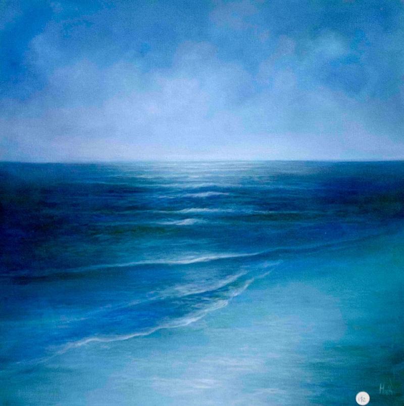 Hırçın Dalgalar 1, Mavi Deniz Dekoratif Kanvas Tablo