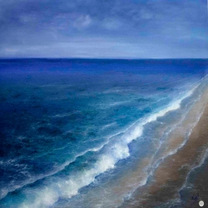Hırçın Dalgalar 2, Mavi Deniz Dekoratif Kanvas Tablo