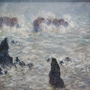 Hırçın Dalgalar 5, Mavi Deniz Dekoratif Kanvas Tablo