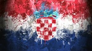 Hırvatistan Bayrak Kanvas Tablo