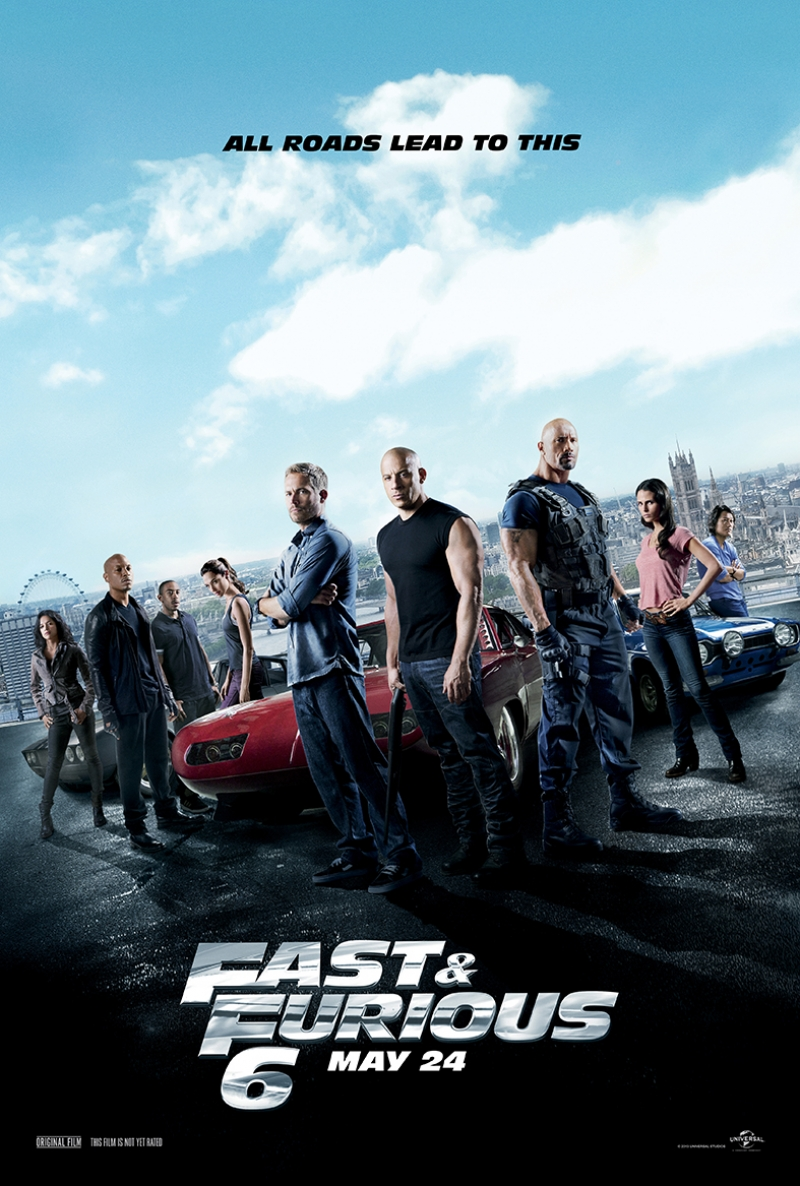 Hızlı ve Öfkeli 6 Fast and Furious Kanvas Tablo