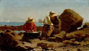 Homer Winslow Tekne Tamircileri Yağlı Boya Klasik Sanat Kanvas Tablo