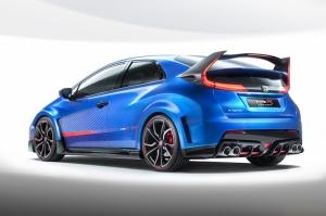 Honda Civic Mavi Spor Otomobil Kanvas Tablo