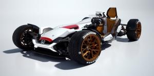 Honda, F1 Motorlu Konsept Özel Tasarım Araçlar Kanvas Tablo