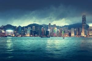 Hong Kong Dünyaca Ünlü Şehirler Kanvas Tablo