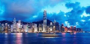 Hong Kong Panaroma Panaromik Şehir Manzarası Kanvas Tablo