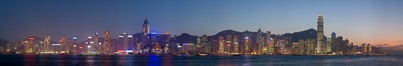 Hong Kong Panaromik Kanvas Tablo