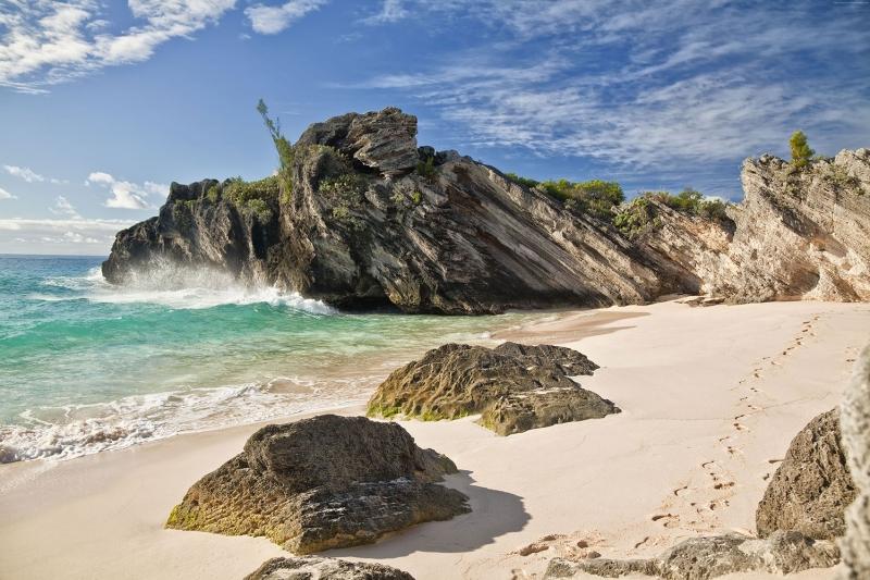 Horseshoe Sahili Bermuda Doğa Manzaraları Kanvas Tablo