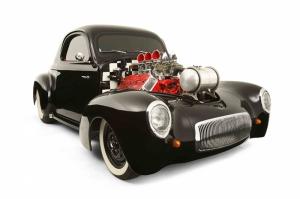 Hot Rod Klasik Otomobil 4 Araçlar Kanvas Tablo
