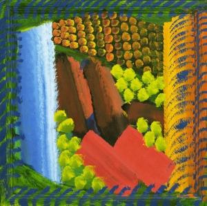 Howard Hodgkin Kırmızı Bermudalar Yağlı Boya Klasik Sanat Kanvas Tablo