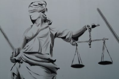 Hukuk İnsan Hakları Person Abstract Tie Painting Scales Law Right Justice