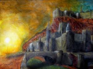 Hükümdar Kalesi Yağlı Boya Sanat Kanvas Tablo