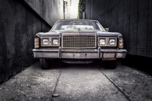 Hurda Ford Retro Otomobil Araçlar Kanvas Tablo