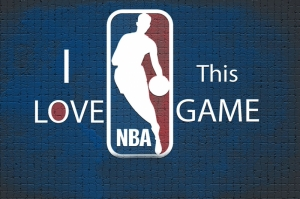 I Love This Game Nba Basketbol Mavi Kanvas Tablo