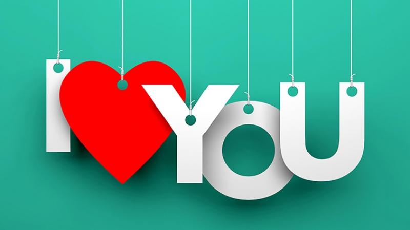 I love You Aşk & Sevgi Kanvas Tablo 3