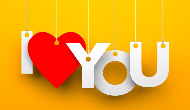 I LOVE YOU Aşk & Sevgi Kanvas Tablo