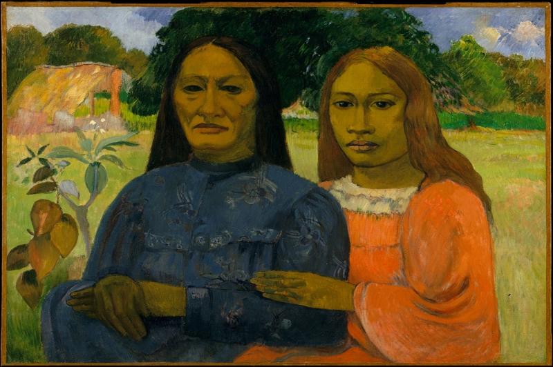 İki Kadın, Two Woman Paul Gauguin Reproduksiyon Kanvas Tablo