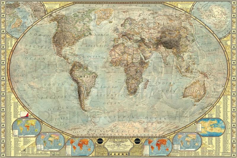Iklim Degisikligi Dunya Haritasi Cografya Canvas Tablo