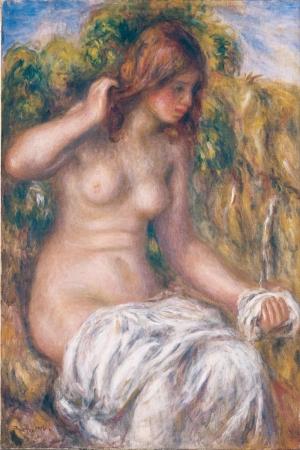 İlkbahar, Bayan, Pierre August Renoir, Woman, Klasik Sanat Kanvas Tablo