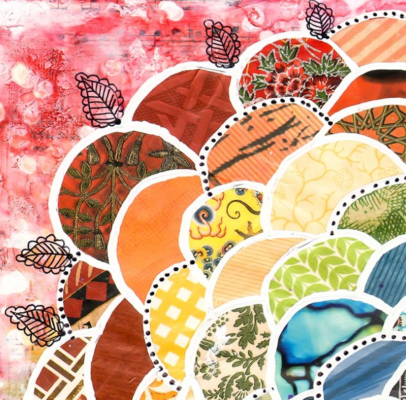 İlkbahar Desenleri Yağlı Boya Sanat Kanvas Tablo