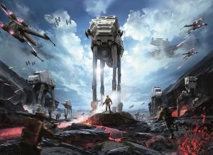 İmparator Savaş Gemileri Star Wars Kanvas Tablo